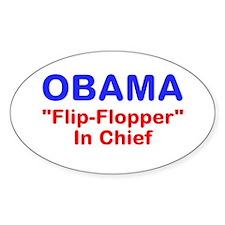 "OBAMA - ""Flip-Flopper"" In Chi Decal"