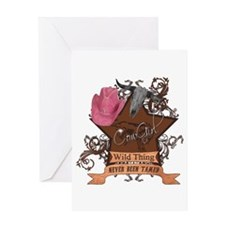 CowGirl Wild Thing never been Greeting Card