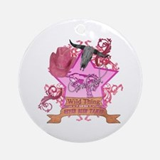 CowGirl Wild Thing never been Ornament (Round)