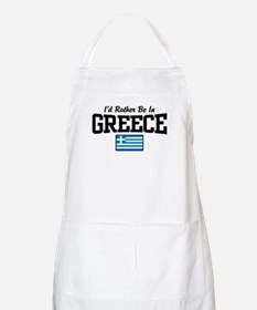 I'd Rather Be In Greece Apron