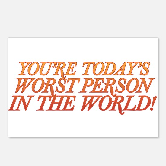 Worst Person Postcards (Package of 8)