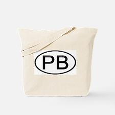 PB - Initial Oval Tote Bag