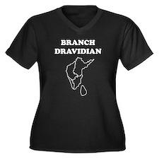 Branch Dravidian Women's Plus Size V-Neck Dark