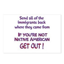 Not Native American ? Postcards (Package of 8)