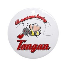 Awesome Being Tongan Ornament (Round)