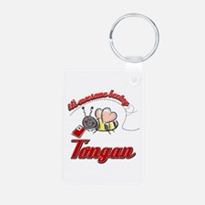 Awesome Being Tongan Keychains