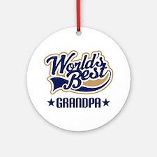 Grandpa (Worlds Best) Ornament (Round)