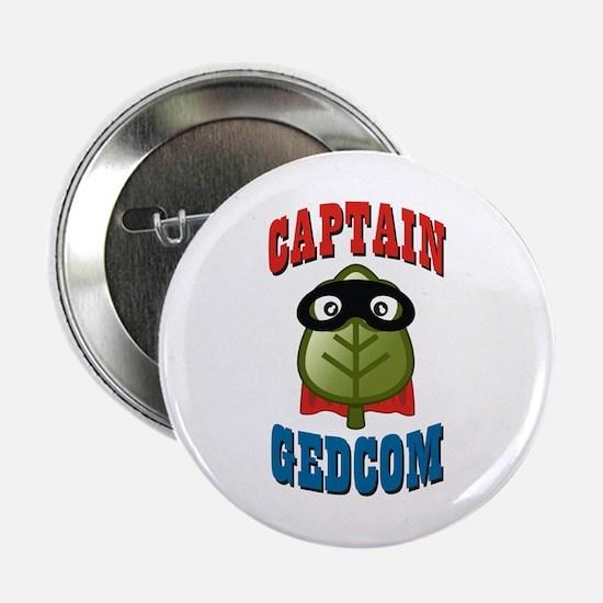 """Captain GEDCOM 2.25"""" Button"""