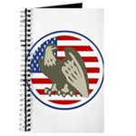 Eagle on American Flag Journal