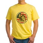 Eagle on American Flag Yellow T-Shirt