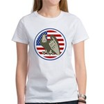 Eagle on American Flag Women's T-Shirt