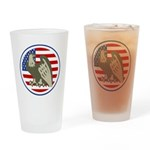 Eagle on American Flag Pint Glass