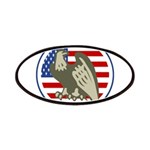 Eagle on American Flag Patches