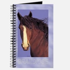 Draft Horse Painting with wind blown mane Journal
