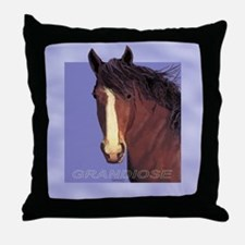 Draft Horse Painting with wind blown mane Throw Pi