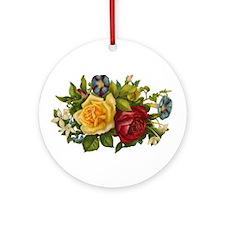 Victorian Flowers Ornament (Round)