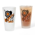 Grunge Basketball Pint Glass