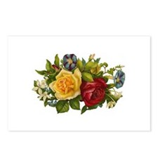 Victorian Flowers Postcards (Package of 8)