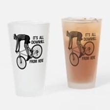 Downhill Mountain Biker Drinking Glass