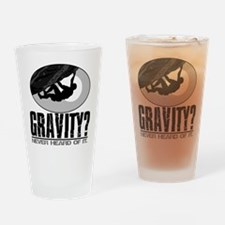 Gravity? Rock Climber Drinking Glass