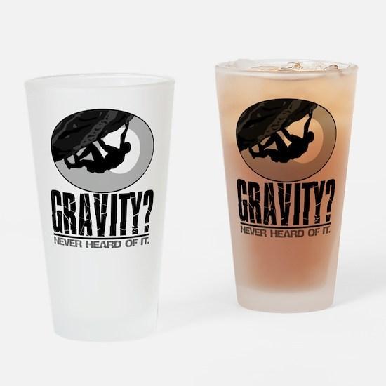 Gravity? Rock Climber Drinking Glass