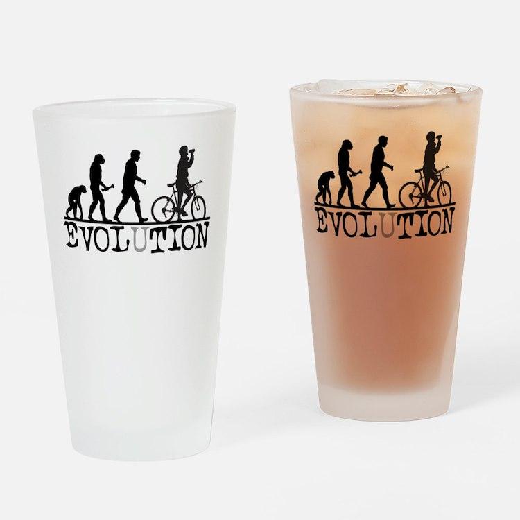 EVOLUTION Biking Pint Glass