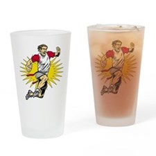 Flag Football Player Drinking Glass