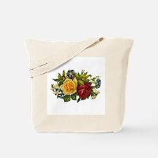 Victorian Flowers Tote Bag