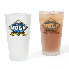 Golf Is My Life Pint Glass