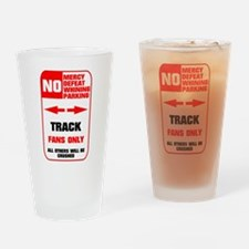 NO PARKING Track Pint Glass
