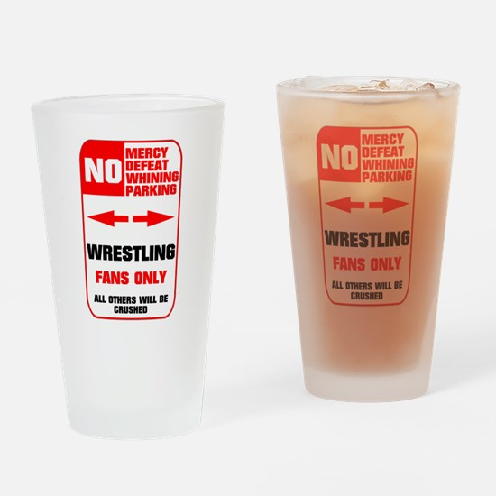 NO PARKING Wrestling Pint Glass