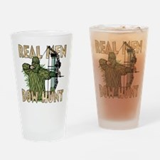 Real Men Bow Hunt Pint Glass