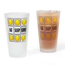 Eat Sleep Serve Tennis Drinking Glass