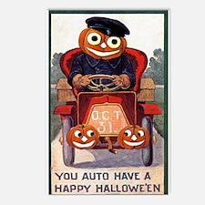 You Auto Have a Happy Hallowe'en - Postcard 8 Pack