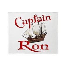 Captain Ron Throw Blanket