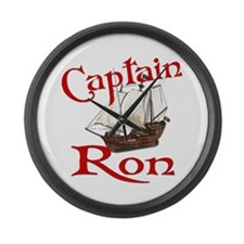 Captain Ron Large Wall Clock
