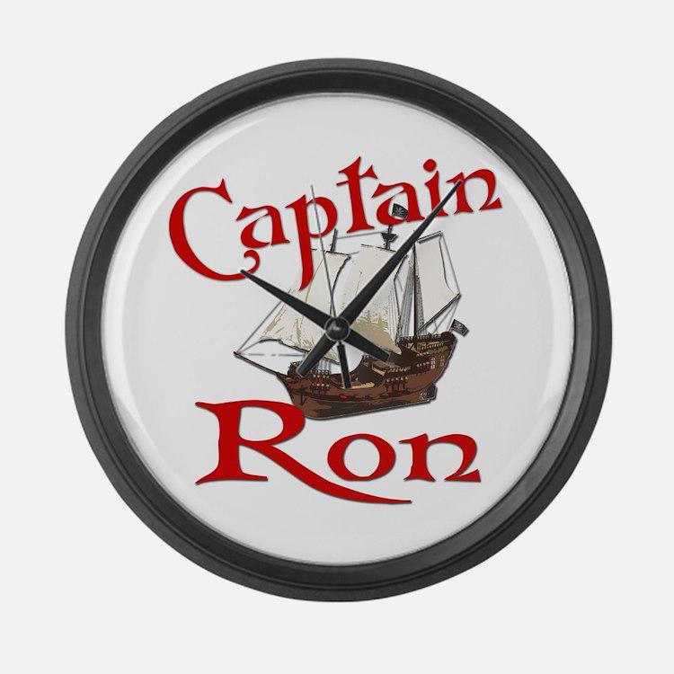 Captain Ron Large Wall Clock
