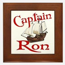 Captain Ron Framed Tile