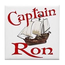 Captain Ron Tile Coaster