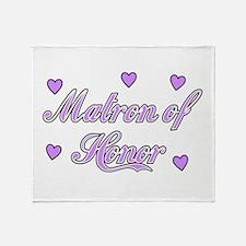 Matron of Honor Throw Blanket