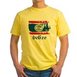 Belize Mens Yellow T-shirts