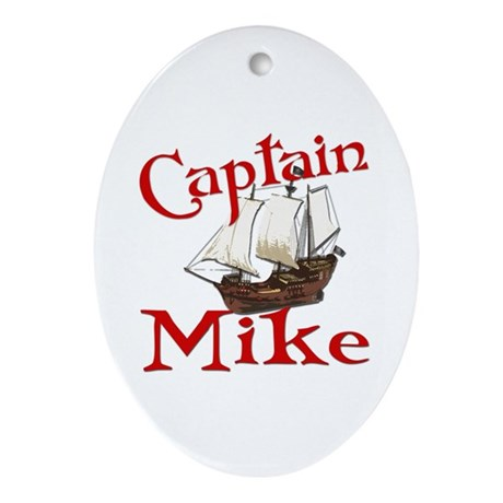 Captain Mike Ornament (Oval)