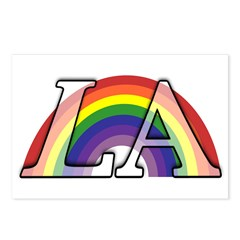 Rainbow Under Los Angeles Postcards (Package of 8)