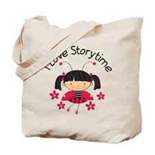 I Love Storytime Reading Tote Bag