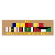 USN Gulf War Vet 1 Star Bumper Sticker