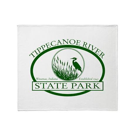 Tippecanoe River Throw Blanket