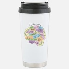 Quilter's Brain Stainless Steel Travel Mug