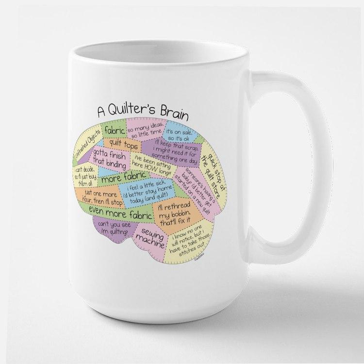 Quilter's Brain Ceramic Mugs
