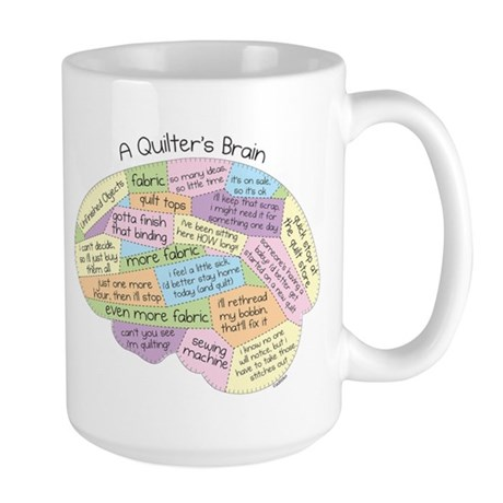 Quilter's Brain Large Mug