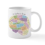 Quilters brain Coffee Mugs